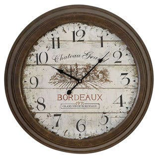 Bordeaux Metal Wall Clock|https://ak1.ostkcdn.com/images/products/8625702/Bordeaux-Metal-Wall-Clock-P15891114.jpg?impolicy=medium
