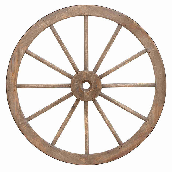 Wood and Metal 30-inch Wagon Wheel - Free Shipping Today - Overstock.com - 15891121