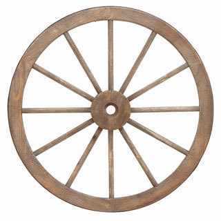 Wood and Metal 30-inch Wagon Wheel