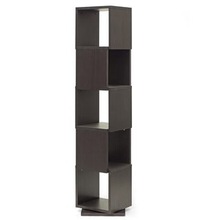Baxton Studio Ogden Dark Brown/ Espresso 5-level Rotating Modern Bookshelf