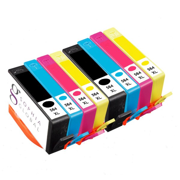 Sophia Global Compatible Ink Cartridge Replacements for HP 564XL (Pack of 8)