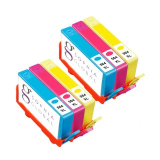 Sophia Global Compatible Ink Cartridge Replacements for HP 564XL (Pack of 6)