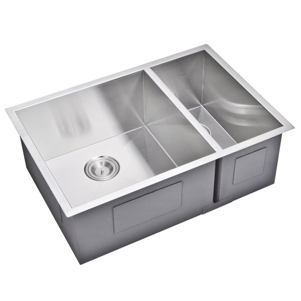 30 inch double bowl kitchen sink shop water creation 29 inch x 20 inch zero radius 70 30 8982