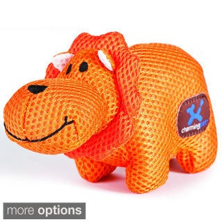 Lil' Roamers Mesh Squeaking Pet Dog Toy (Lion or Rhino)