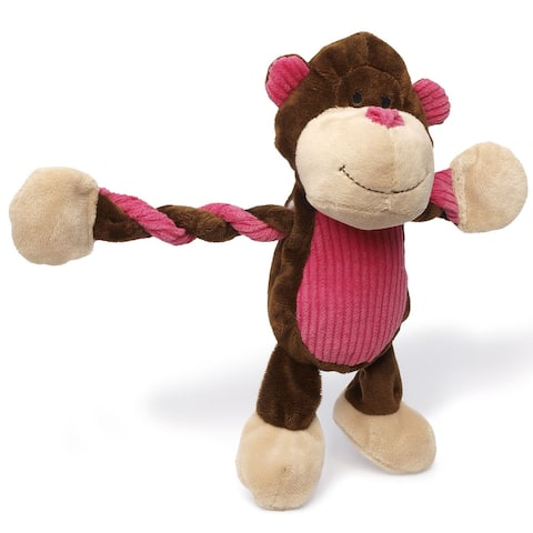 Charming Pet Products 11-inch Pulleez Monkey Plush Dog Toy
