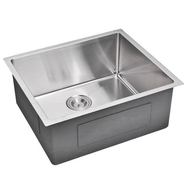 20 Inch Utility Sink : Water Creation 23-inch X 20-inch 15 mm Corner Radius Single Bowl ...