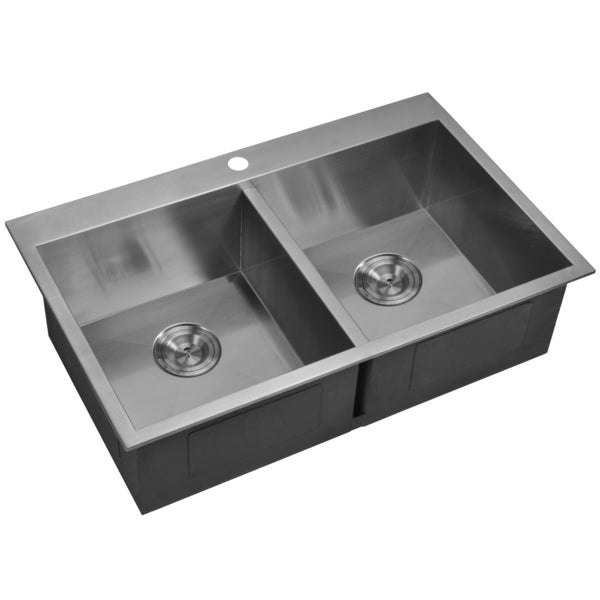 33x22 stainless steel kitchen sink water creation sss td 3322a 33x22 inch 50 50 bowl 7333