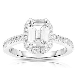 Collette Z Sterling Silver Asscher-cut Cubic Zirconia Ring