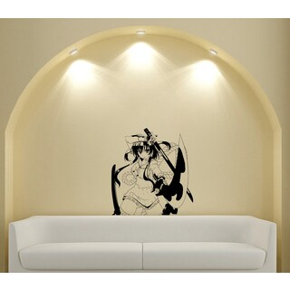Japanese Manga Dagger Girl Vinyl Wall Decal