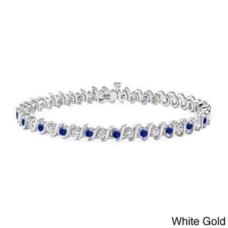 addcafb703d Shop Auriya 14k Gold 3 1 2ct Blue Sapphire and 3 1 2ct TW Diamond ...