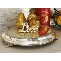 Traditional 15 Inch Round Stainless Steel Cake Stand by Studio 350 - Silver