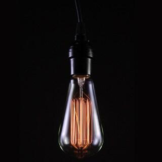 Alexandra Adjustable Height 1-light Edison Lamp with Bulb