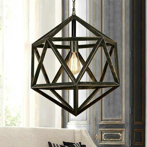 Diamond Cage 1-light Edison Lamp with Bulb. Opens flyout.