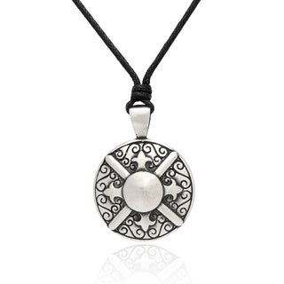 Gravity Metal Knight Shield Pendant Necklace