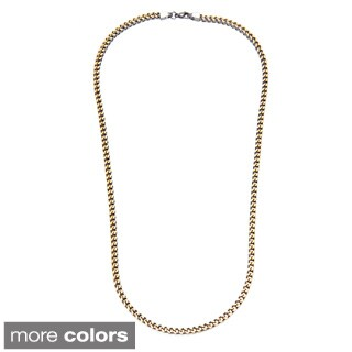 Eternally Haute Stainless Steel Franco 30-inch Necklace