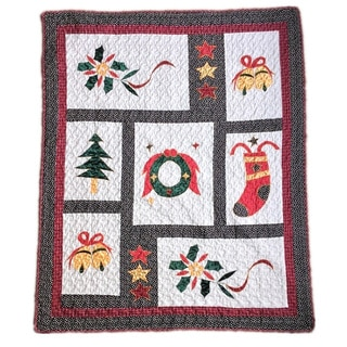 Vintage Christmas Quilted Throw