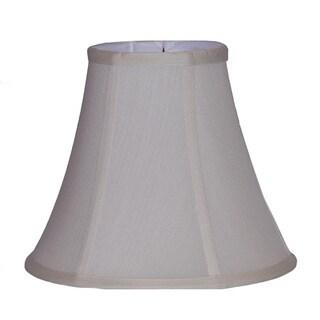 Crown Lighting Pongee Silk Bell Cream Lampshade