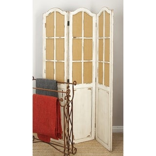 48 x 71 Large 3-Panel Wood Screen Room Divider by Studio 350