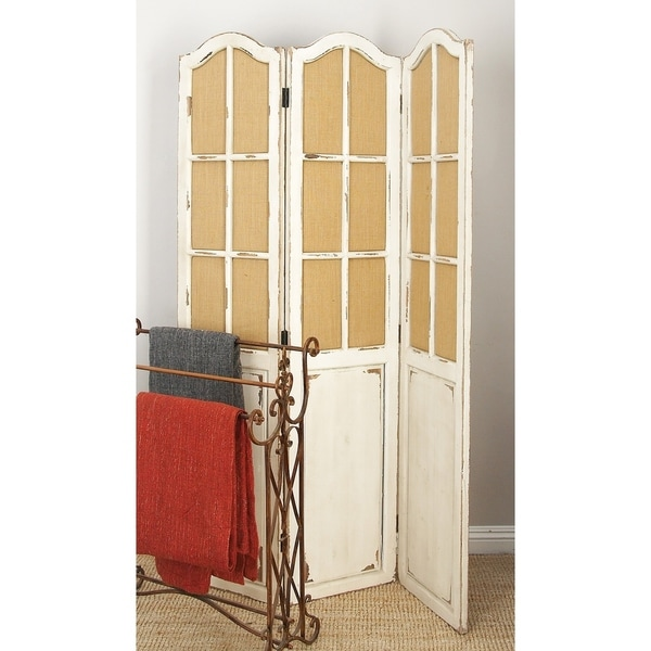 "48"" x 71"" Large 3-Panel Wood Screen Room Divider by Studio 350"