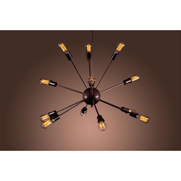 Jackstone 12-light Bronze Edison Lamp with Bulbs