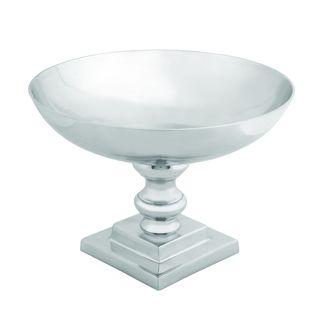 10-inch Silver Aluminum Bowl