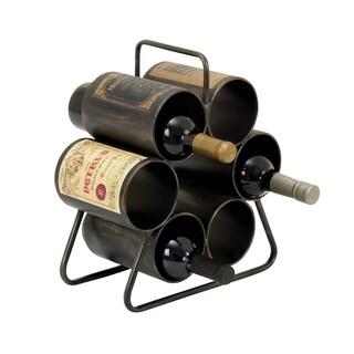 Benzara 6-bottle Rustic Wine Rack
