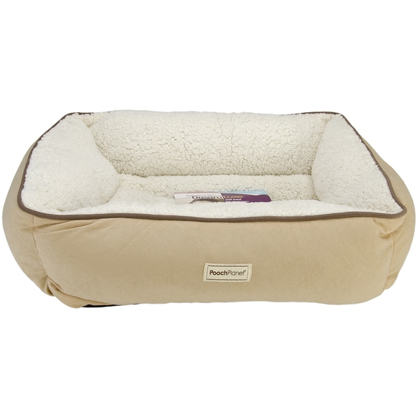 Poochplanet Dreamluxe Couch Style Pet Bed Medium Free Shipping On Orders Over 45 Overstock