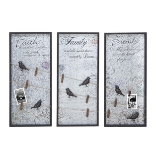 Faith Family and Friends Wall Decor Set (3 panels)
