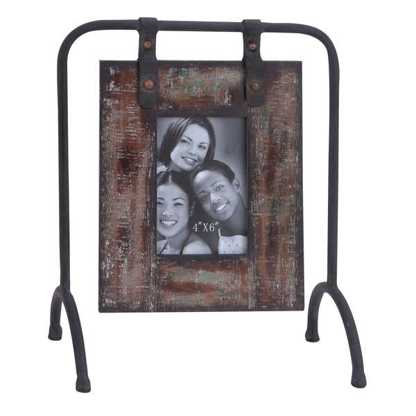 Shabby Brown Natural Wood Rustic Photo Frame