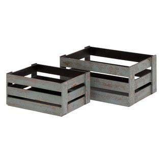 natural stamped wooden wine crate 15890737 overstock. Black Bedroom Furniture Sets. Home Design Ideas