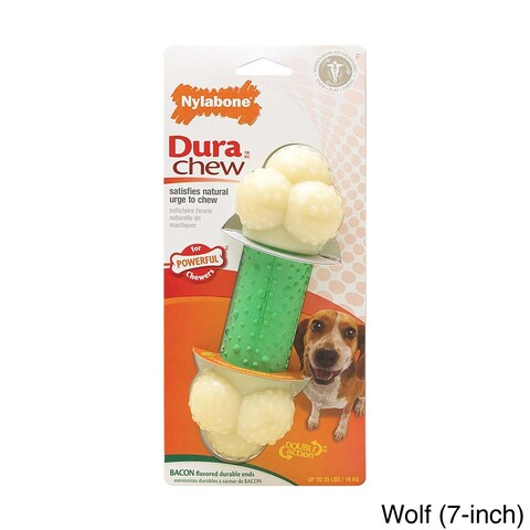 Nylabone DuraChew Double Action Toy/ Merrick Beef Texas Taffy Dog Chew