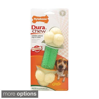 Nylabone DuraChew Double Action Toy/ Merrick Beef Texas Taffy Dog Chew