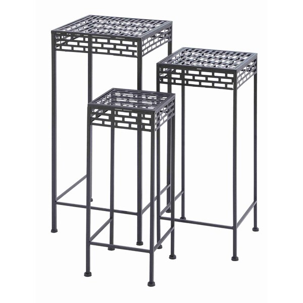 tall design metal plant stands set of 3 free shipping today 15892521. Black Bedroom Furniture Sets. Home Design Ideas