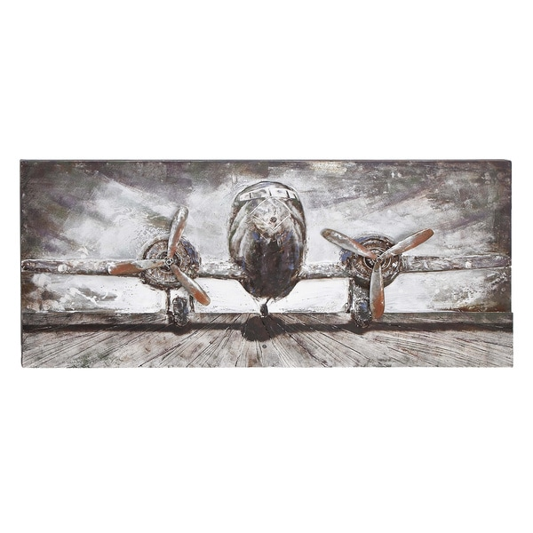 Shop Wood Metal Airplane Wall Decor Free Shipping Today