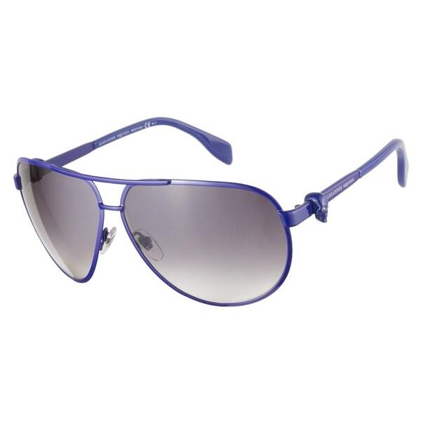 Alexander McQueen AMQ4156S 08V BD Blue 65 Sunglasses