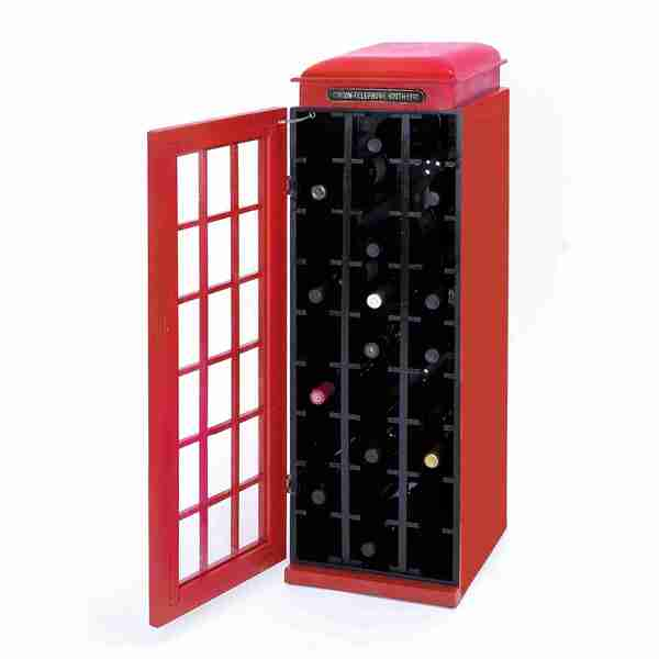 Telephone Booth 27 Bottle Wine Cabinet
