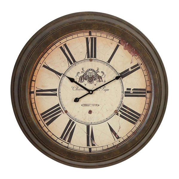Roman Numeral Metal Wall Clock