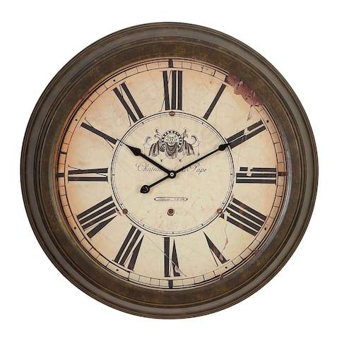 Gracewood Hollow Tantaquidgeon Roman Numeral Metal Wall Clock