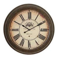 Gracewood Hollow Tantaquidgeon Roman Numeral Metal Wall Clock