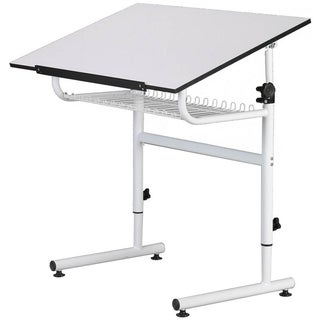 Martin Universal Design White Gallery Art Drafting and Hobby Craft Table
