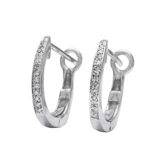 AALILLY 10k White Gold Children's Diamond Accent Hoop Earrings|https://ak1.ostkcdn.com/images/products/8629173/10k-White-Gold-Childrens-Diamond-Accent-Hoop-Earrings-P15893707.jpg?impolicy=medium