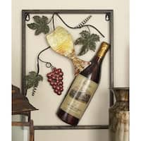 Metal Wine Decor Set of 4