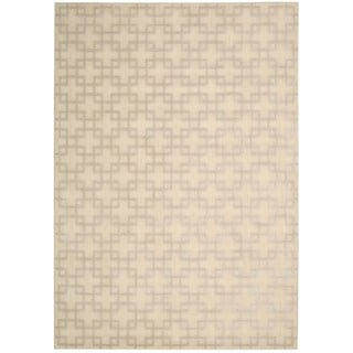 kathy ireland Hollywood Shimmer Architectural Times Square Bisque Area Rug by Nourison (9'3 x 12'9)