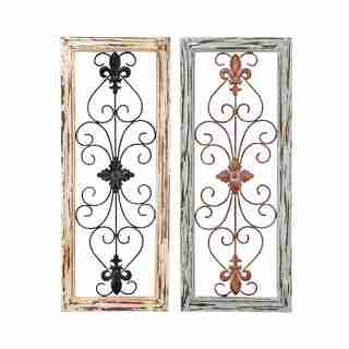 Wall Panel Assorted In Abstract Design   Set Of 2 Part 73