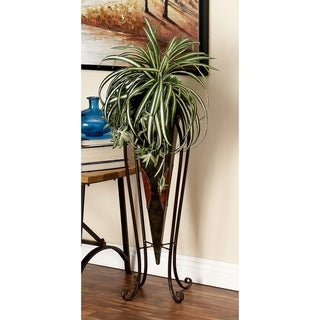 Set of 2 Traditional Inverted Pyramid-Style Plant Stands by Studio 350 - Bronze