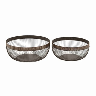 Basket Complements Traditional and Modern Decor - Set of 2