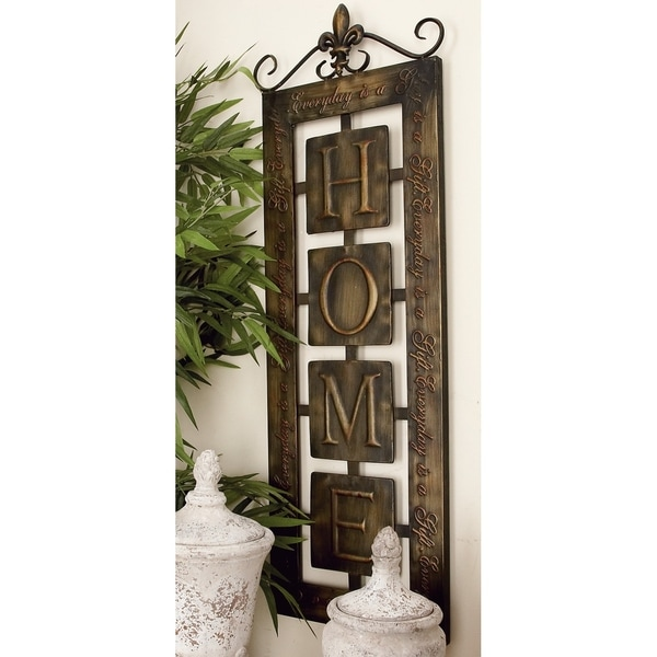 Studio 350 Metal Wall Plaque inches highome inches 39 inches high, 15 inches wide