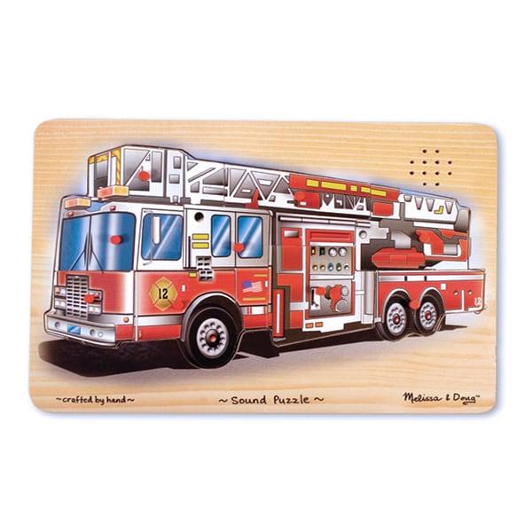 Melissa & Doug Fire Truck Sound Puzzle (9 Pieces)