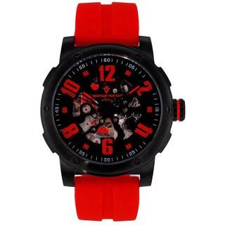 Christian Van Sant Men's Black/Red Skeleton Watch|https://ak1.ostkcdn.com/images/products/8629444/Christian-Van-Sant-Mens-Black-Red-Skeleton-Watch-P15893955.jpg?_ostk_perf_=percv&impolicy=medium