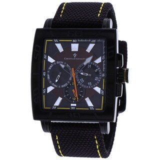 Christian Van Sant Men's Chateau Watch with Black Strap